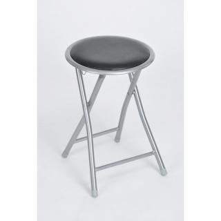 Taburete plegable de metal asiento pvc negro las - Taburetes de cocina plegables ...