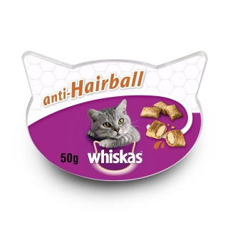 Snacks para Gatos Whiskas Antihairball 60 gr