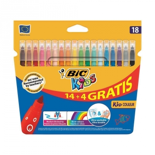 Blíster 18 Rotuladores de Color Bic Kid Couleur