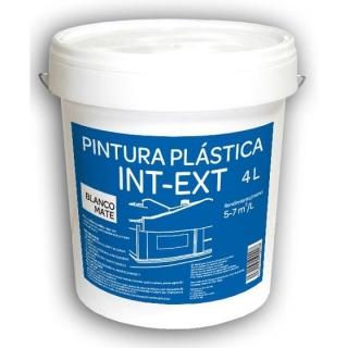 pintura pl stica interior exterior 4l blanca mate las