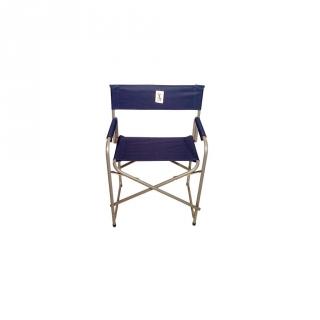 Silla plegable director acero azul las mejores ofertas for Oferta sillas plegables