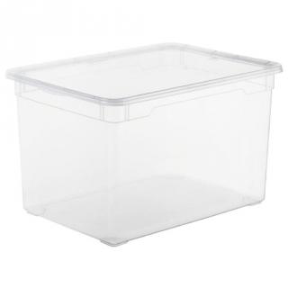 Caja con tapa de pl stico basic carrefour home 46 litros - Caja plastico con tapa ...