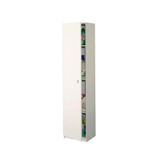 Armario columna con 1 puerta las mejores ofertas de carrefour for Armario blanco carrefour