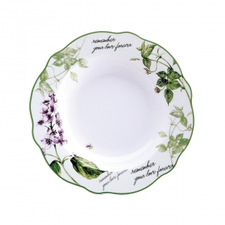 Plato Redondo de Porcelana BRUNCHFIELD Remember 1pz - Decorado