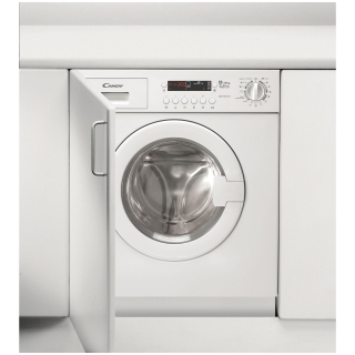 Lavadora secadora integrable 8 kg candy cdb485dn 1 s las for Mueble lavadora carrefour