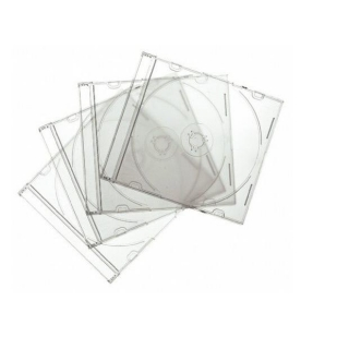 Cajas para CDs Fellowes Pack de 10 - Transparentes