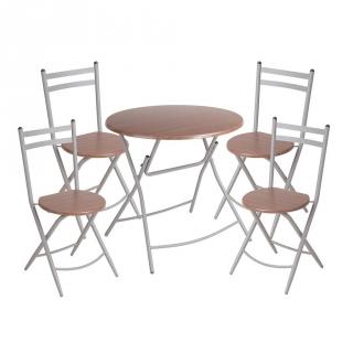 Mesa de cocina 4 sillas wengue las mejores ofertas de for Mesas cocina carrefour