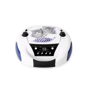 Radio CD Bigben Gatos CD52C - Blanco
