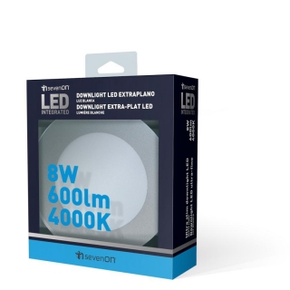 Downlight Extraplano Led SMD Redondo Aluminio Mate 8 W