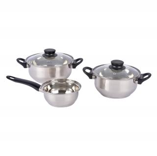 Bateria de cocina de acero inox munich 5 piezas las for Baterias de cocina hipercor