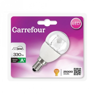 Bombilla Led Esférica Clara 5WE14 Carrefour