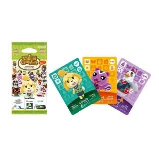 Animal Pack 3 Tarjetas Animal Crossing para 3DS para videojuegos compatibles