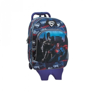 Mochila con Carro Desmontable Batman y Superman