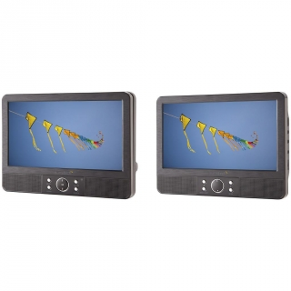 Reproductor DVD Portátil Doble Pantalla Sunstech DLPM959BK