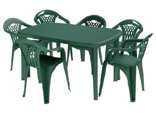 conjunto de resina mesa 6 sillas verde las mejores