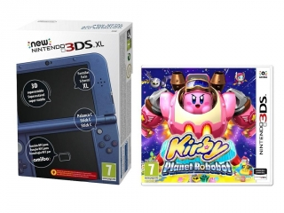 Oferta New 3DS XL Azul con Kirby Planet Robot