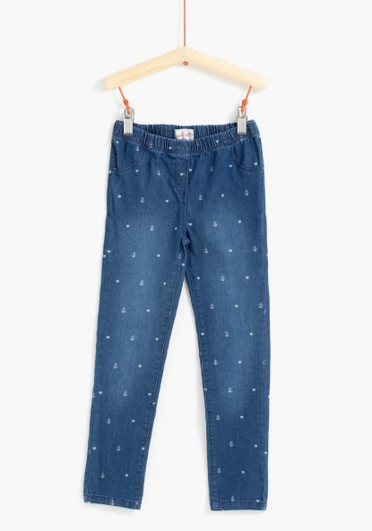 Jegging vaquero estampado TEX