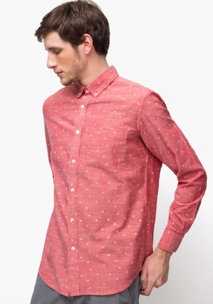 Camisa de manga larga estampada TEX
