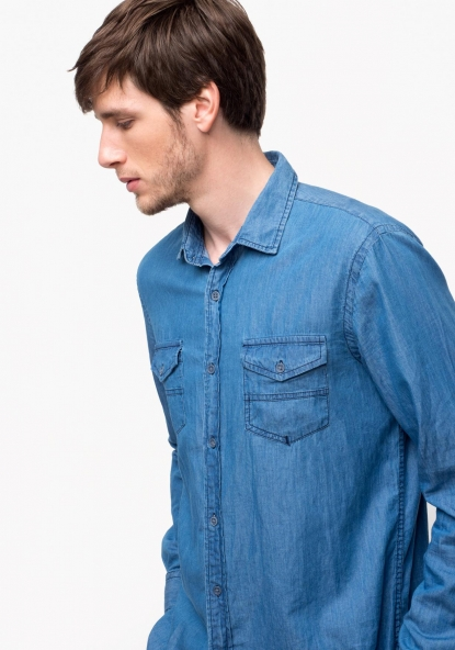 Camisa de manga larga denim TEX