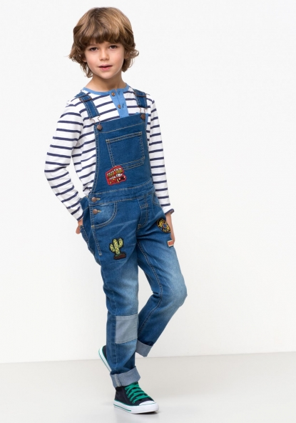 Peto largo denim TEX