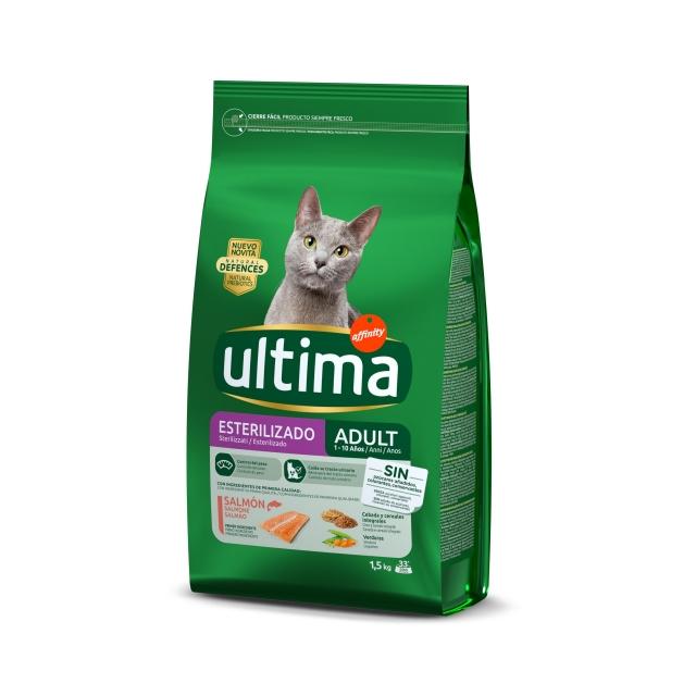Alimento Seco para Gato Ultima Esterilizados Salmón 1,5 Kg