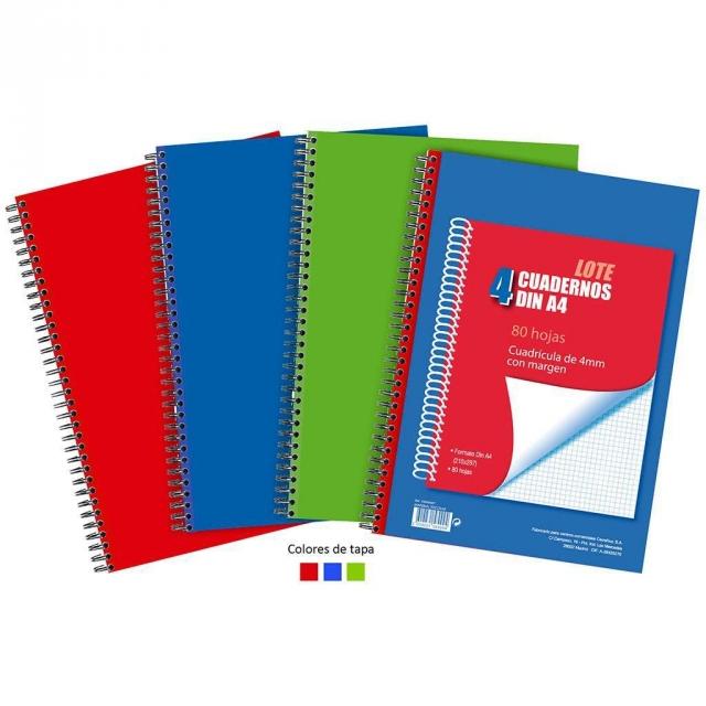 Lote 4 cuadernos