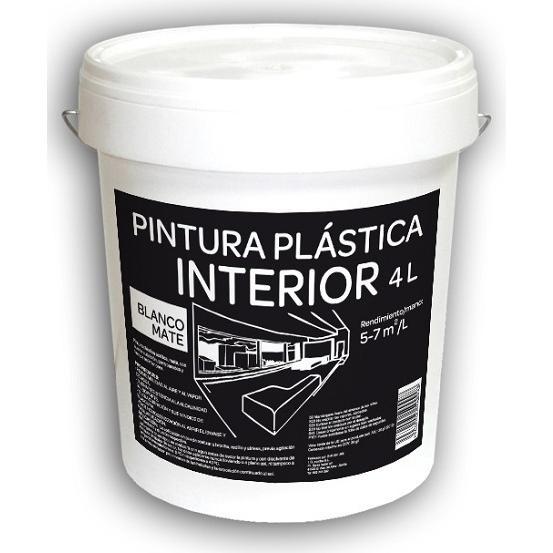 Pintura Plástica Interior 4L Blanca Mate