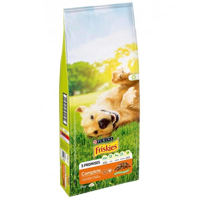 Alimento para Perro Purina Friskies Complete con Pollo y Verduras Añadidas 15Kg
