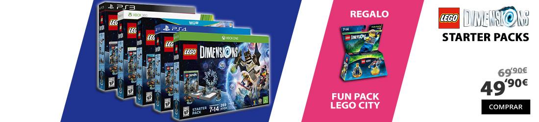 oferta lego dimensions starter packs