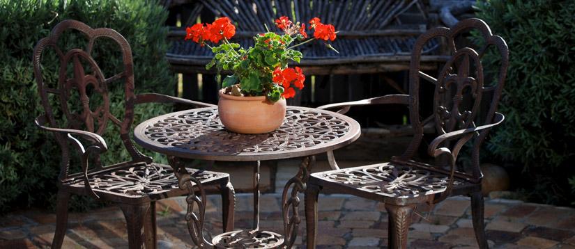 Como Poner A Punto Los Muebles De Forja Del Jardin - Muebles-de-forja-para-jardin