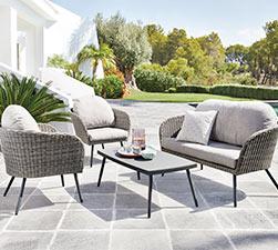 Sofa exterior barato muebles baratos para el jardn - Sofa exterior carrefour ...