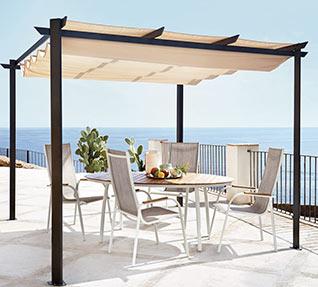 Ofertas para el jard n muebles herramientas piscinas for Sombrillas jardin carrefour