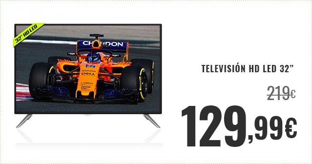 TV HD LED POR 129,99€