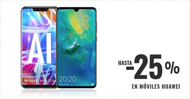 Hasta -25% en móviles Huawei