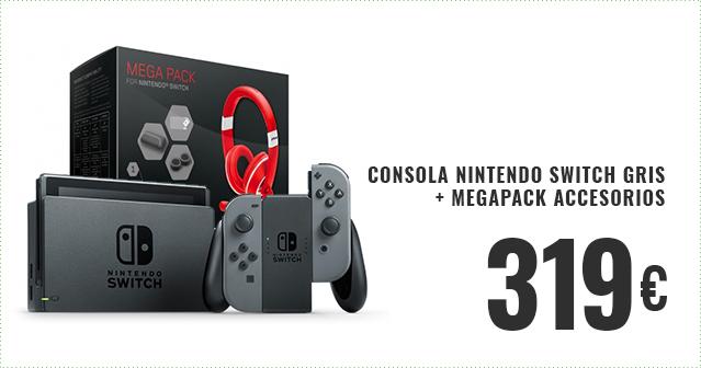 Consola Nintendo Switch Gris + MegaPack Accesorios
