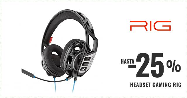 HASTA -25% HEADSET GAMING RIG