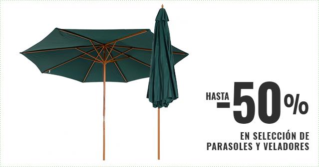 Hasta -50% en selección de parasoles y veladores