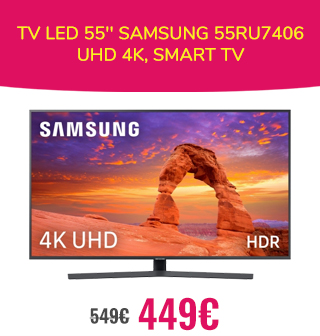 TV LED 55'' Samsung 55RU7406