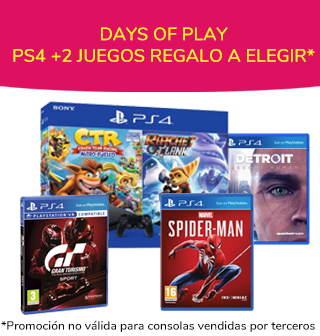 DAYS OF PLAY PS4 + 2 JUEGOS
