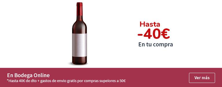 Hasta 40€ de dto en la bodega online