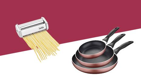 Hasta -60% En ollas, sartenes y utensilios de cocina