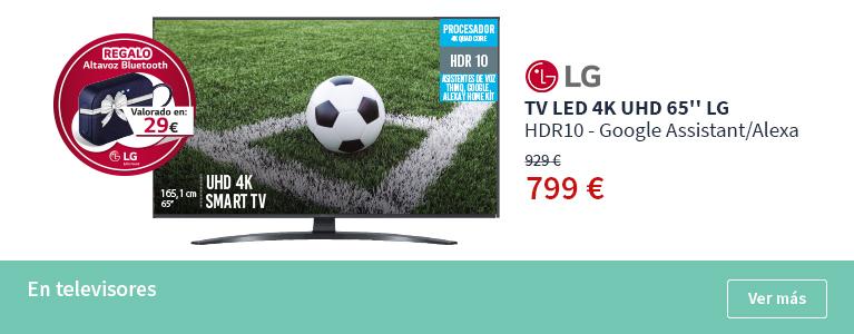TV LED 4K UHD de 65 HDR10 - Google Assistant/Alexa