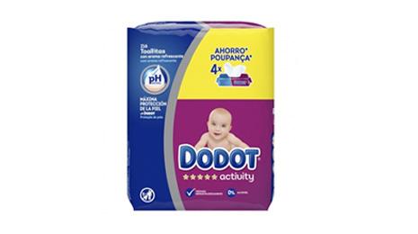 Toallitas DODOT Activity Pack 4x54