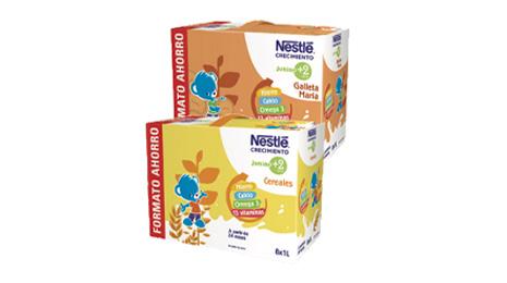 Leche NESTLÉ Crecimiento Junior 2+ galleta o cereales