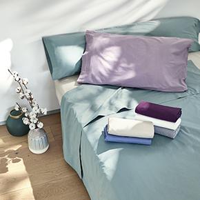 En estas sábanas encimeras, bajeras o fundas de almohada 100% Algodón Percal TEX BIO