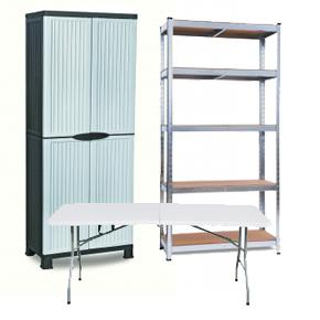 Muebles para garaje o trastero en Resina o Acero