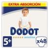 Pañales Dodot Sensitive Talla 5+ (12-17 kg.) 48 ud.