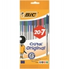 Bolígrafos Bic Cristal Surtidos 20+7 uds