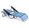 Silla Playera Baja Beach Rayas Azules