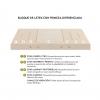 Colchón de Latex Enfundado  DORWIN Natur 135X182  cm